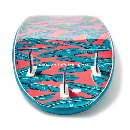 Planche de surf en mousse 7'8 500. Livrée avec 1 cordon et 3 ailerons.