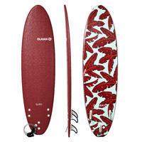Planche de surf en mousse 7' 500. Livrée avec 1 cordon et 3 ailerons.