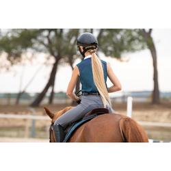 Débardeur équitation femme 500 MESH bleu pétrole