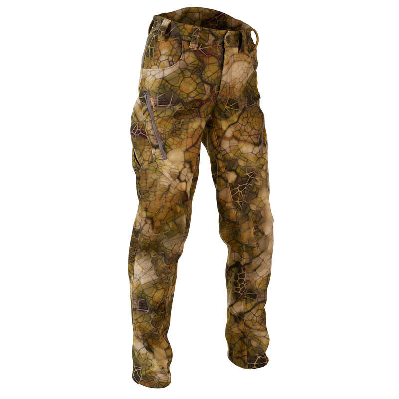 STALK CLOTHING DRY/WET WEATHER - Softshell Trousers 500 FURTIV SOLOGNAC