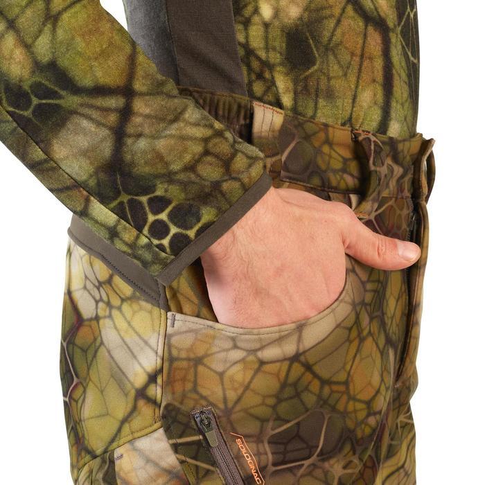 Pantalón Caza Solognac 500 Softshell Silencioso Camuflaje Sigilo