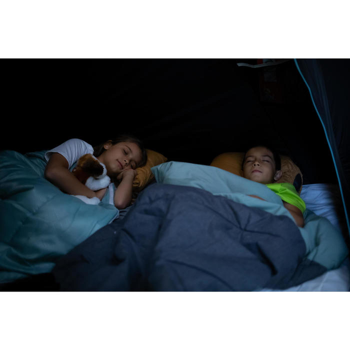 Schlafsack Camping Arpenaz 20°C Baumwolle grün