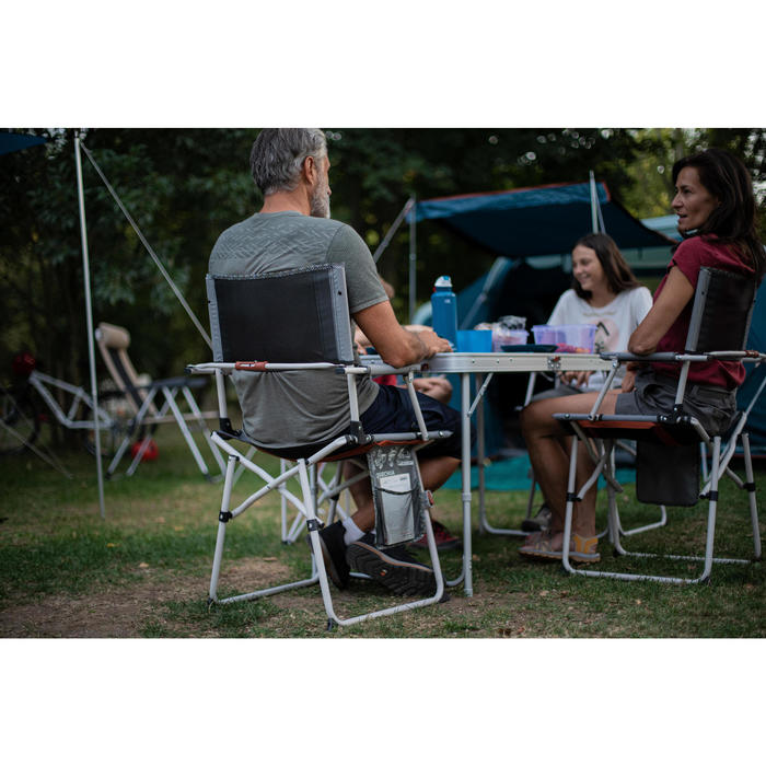 Chaise De Table Pliable Et Confortable Pour Le Camping Comfort Quechua Decathlon