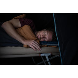 Schlafsack Camping Arpenaz 20°C Baumwolle caramel