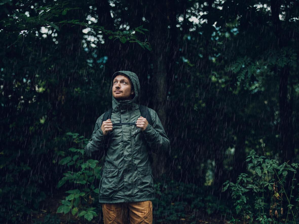 men over the rain
