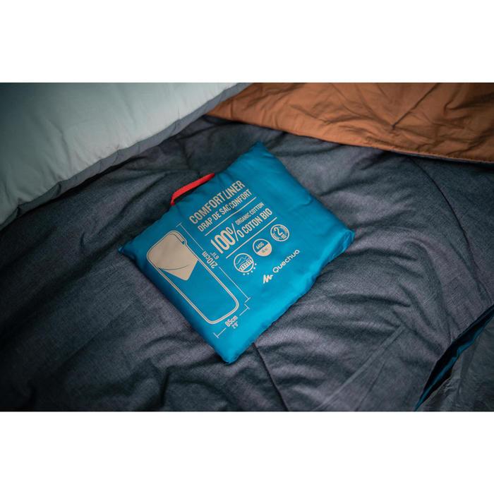 Schlafsack-Inlett Baumwolle beige