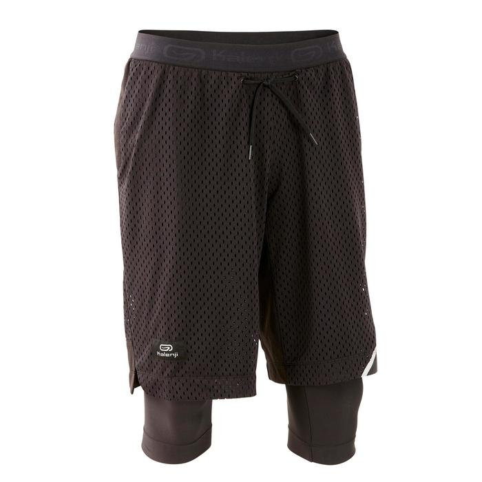 SHORT LONG RUNNING RUN DRY + BREATHE NOIR HOMME