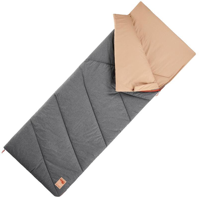 Cotton Camping Sleeping Bag Arpenaz 10° Cotton