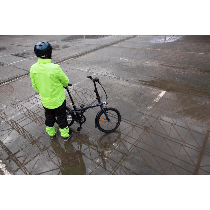 Fahrrad-Regenjacke City 100 Herren neongelb