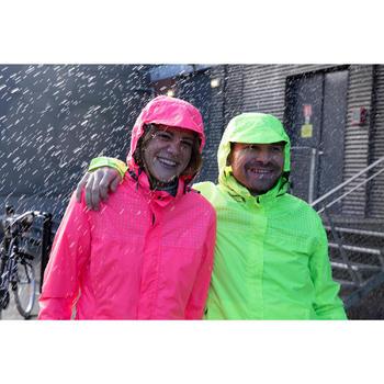 Fietsregenjas voor in de stad 100 heren fluogeel