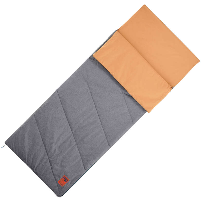 BASE CAMP SLEEPING BAGS Camping - Arpenaz 20° Cotton SB-Caramel QUECHUA - Sleeping Equipment