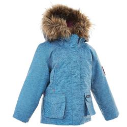 Girl's Warm Waterproof Hiking parka SH500 U-Warm Age 2-6 - Blue