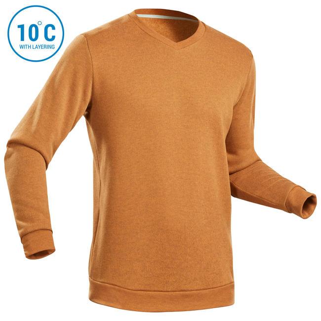 Men's Sweater NH150 - Ochre Brown