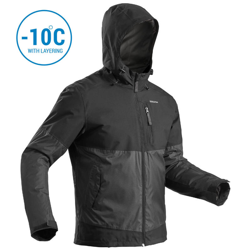 Men's Snow Hiking Jacket SH100 X-Warm (Waterproof) - black