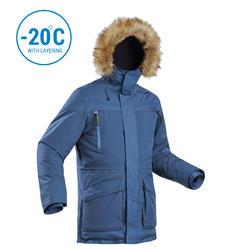 Men's Warm Waterproof Snow Hiking Parka SH500 Ultra-Warm - Blue.