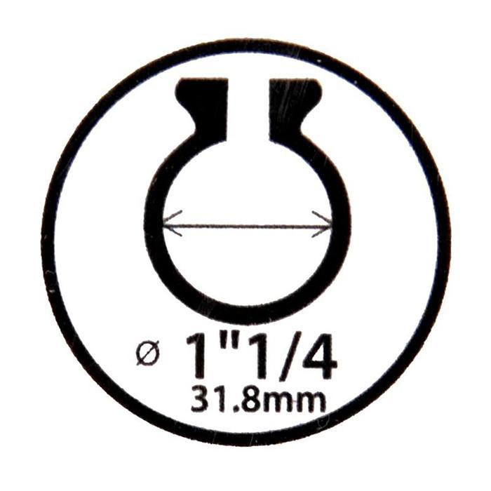Zadelklem 31,8 mm voor carbon zadelpen