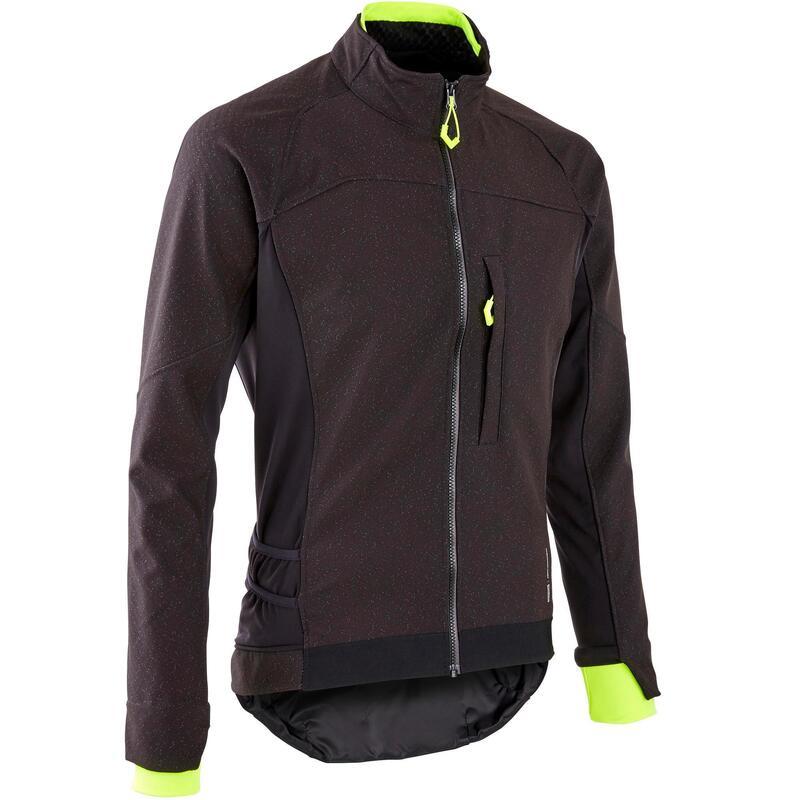 ST500 Winter Softshell MTB Cycling Jacket - Black/Yellow