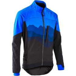 男款登山車外套ST 500 - 藍色/黑色