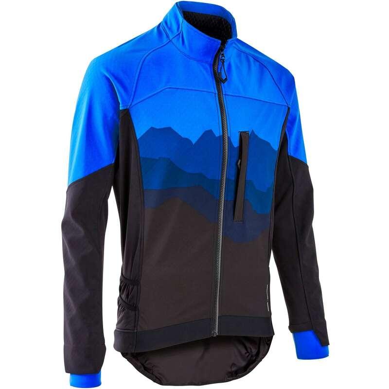 PÁNSKÉ OBLEČENÍ NA MTB DO CHLADNÉHO POČASÍ Cyklistika - CYKLISTICKÁ BUNDA ST500 ROCKRIDER - Helmy, oblečení, obuv