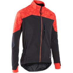 男款登山車外套ST 500 - 紅色/黑色