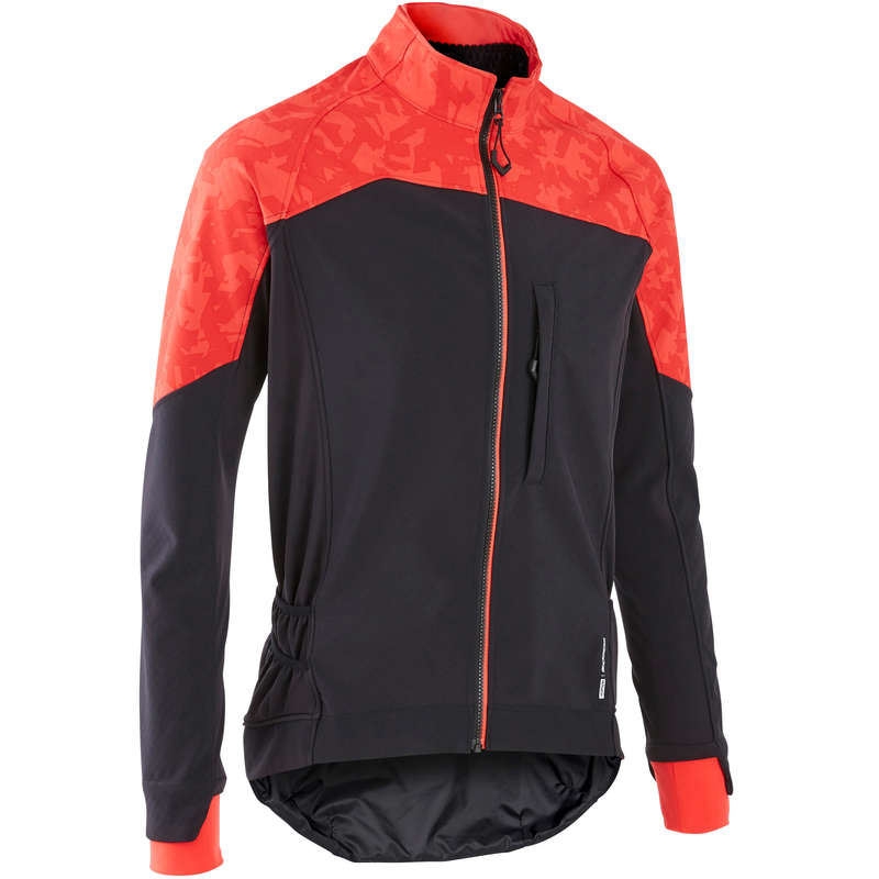 MEN COLD WEATHER ST MTB APPAREL Cycling - Men's Jacket ST 500 - Red ROCKRIDER - Cycling