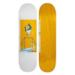 """Skateboard deck 120 Bruce maat 8"""" geel"""