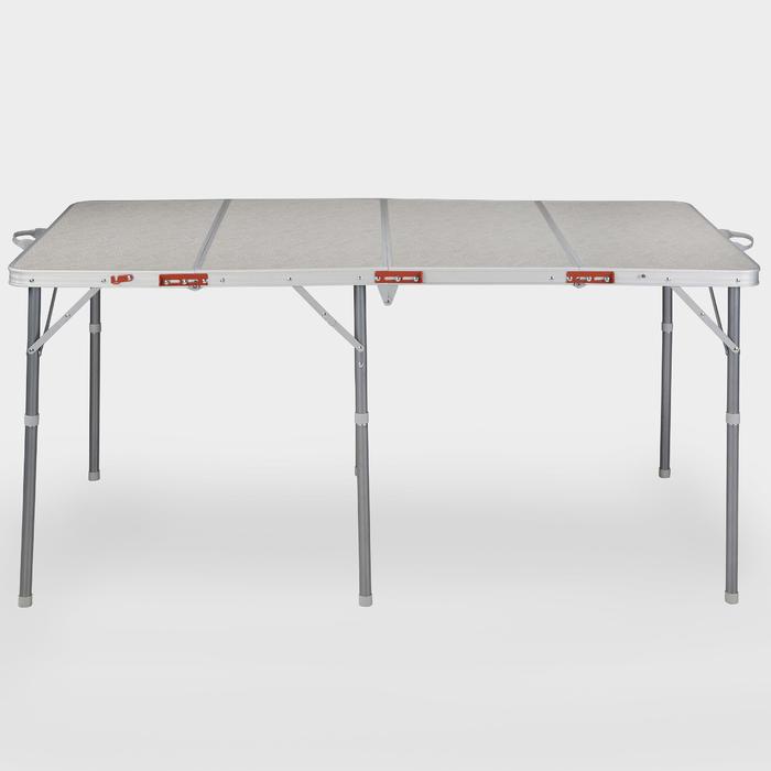 Vouwbare kampeertafel voor 6 tot 8 personen