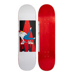 "Skateboard deck 120 Bruce maat 8.5"" rood"