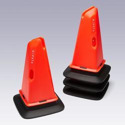 Lot de 4 cônes d'entrainement lestés Modular 30cm orange