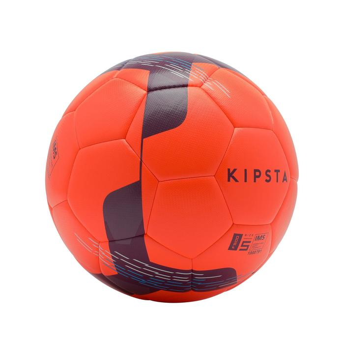 Ballon de football Hybride F500 taille 5 rouge