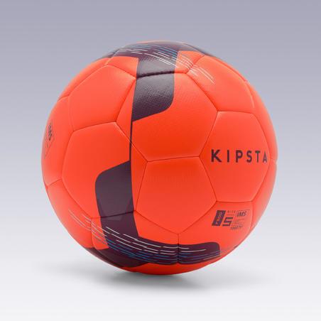 Balón de fútbol F500 híbrido talla 5 rojo