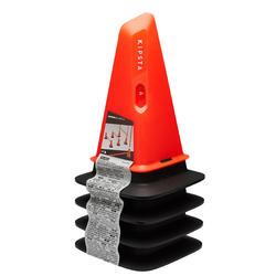 Lot de 4 cônes Modular 30cm orange pour entraînement