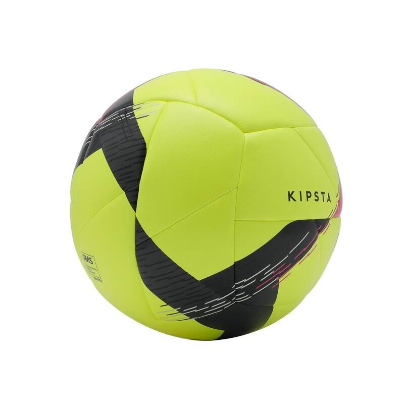 Futbalové lopty FUTBAL - FUTBALOVÁ LOPTA F550 V4 ŽLTÁ KIPSTA - FUTBALOVÉ BRÁNKY A LOPTY