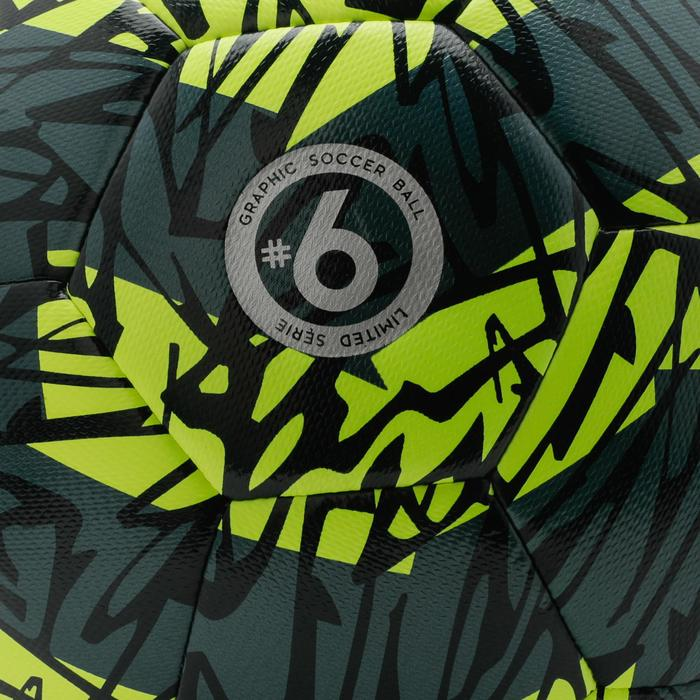 Voetbal F500 hybride light maat 5 geel/groen