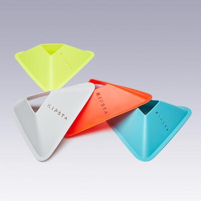 Conos de entrenamiento Lote de 40 - 4 colores (amarillo, naranja, gris, azul)