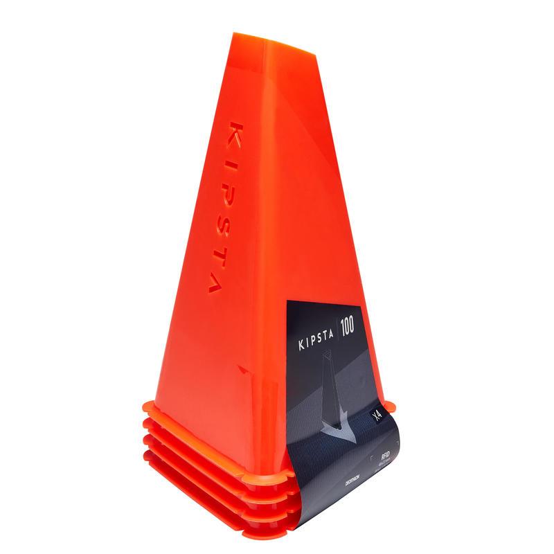Lote de 4 conos de entrenamiento Essential 30 cm naranja