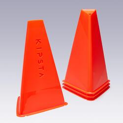 Lot de 4 cônes d'entrainement Essential 30 cm orange