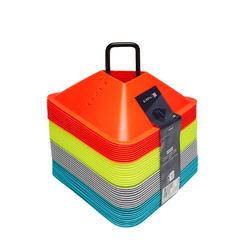 Trainingshütchen Essential 40er-Set gelb/orange/grau/blau
