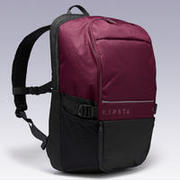 Sports Backpack 35L with Laptop Pocket - Burgundy/Black