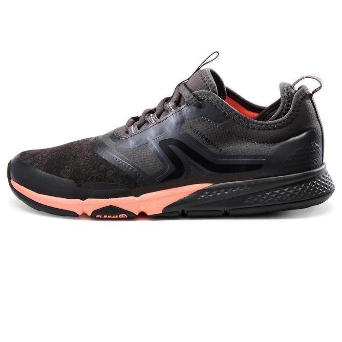 Chaussures marche sportive femme PW 580 WaterResist gris/corail