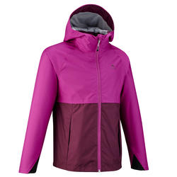 Kids' waterproof hiking jacket MH500 - Purple