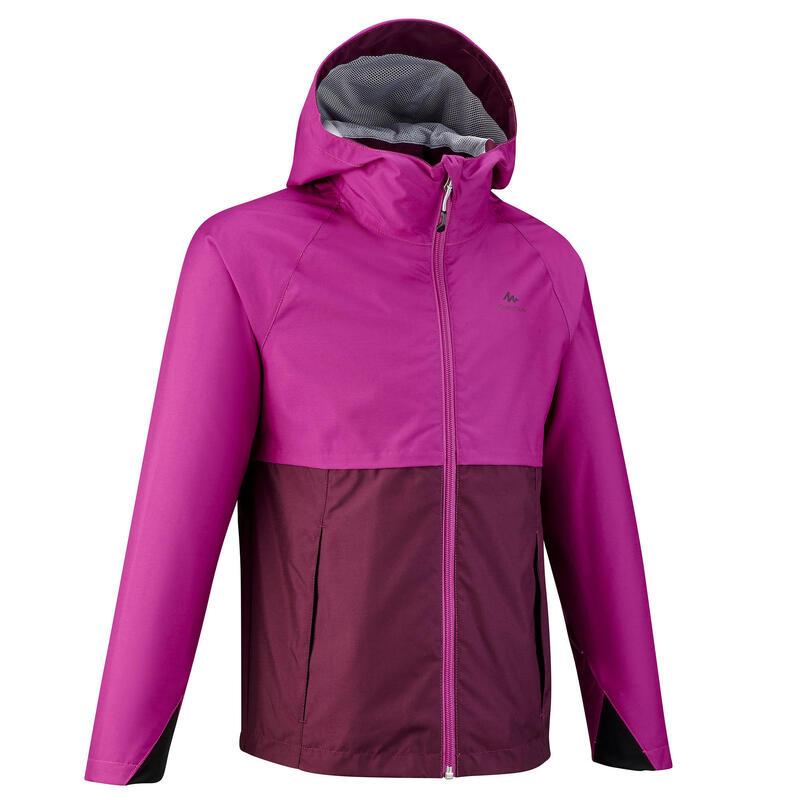 Veste imperméable de randonnée - MH500 violette - enfant 7-15 ans