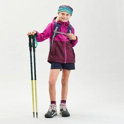 Waterdichte wandeljas voor kinderen MH500 paars