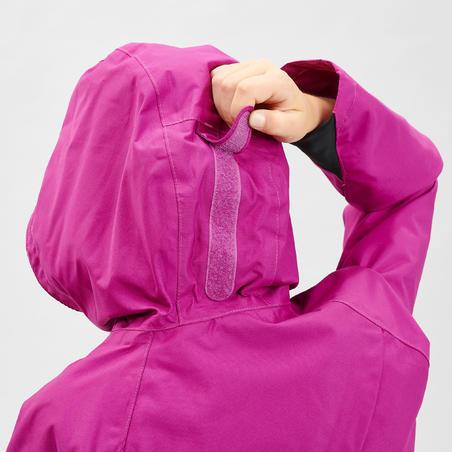 Veste imperméable de randonnée MH500 violette - Enfants