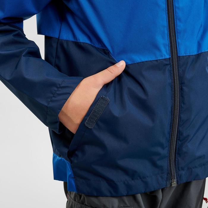 兒童款防水健行外套MH500-軍藍色