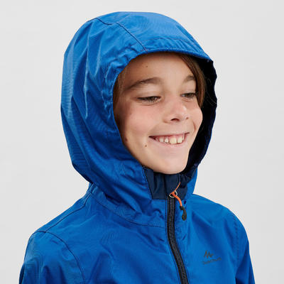 MH500 Kids' Waterproof Hiking Jacket - Navy