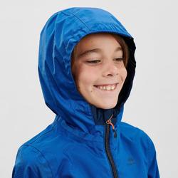 Kids Hiking waterproof jacket - MH500 - Navy blue