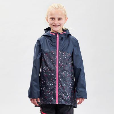 Kids' waterproof walking jacket MH150 – Navy blue