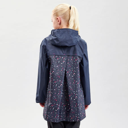 Kids' waterproof walking jacket MH150 – Navy blue