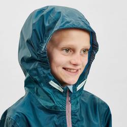 Veste imperméable de randonnée - MH150 turquoise - enfant